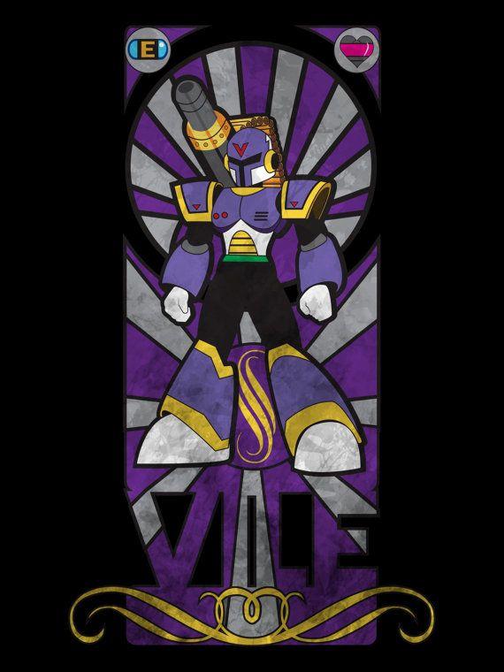 Megaman X Vile Art Nouveau Style Unisex Hoodie fA8ElN
