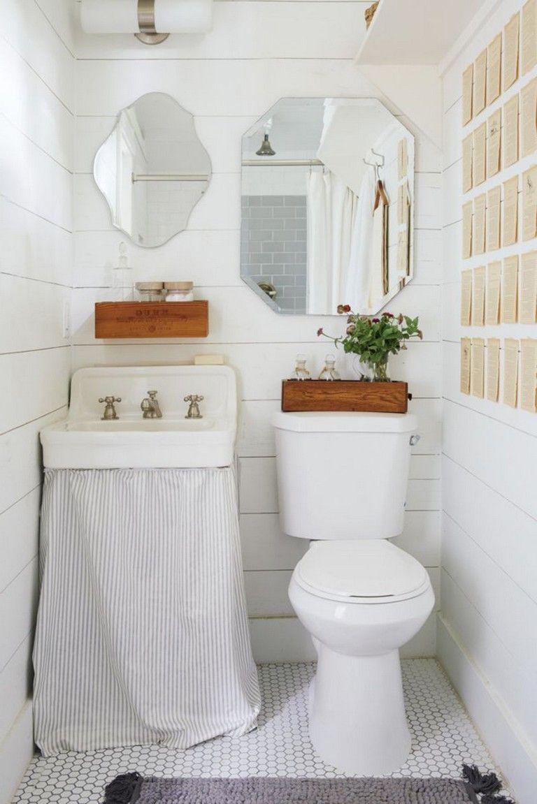 54 Best Farmhouse Bathroom Ideas For Small Space Tiny