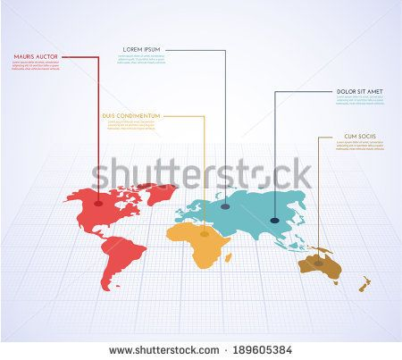 World map infographics vector eps10 stock vector abstract 3d world map infographics vector eps10 stock vector gumiabroncs Gallery