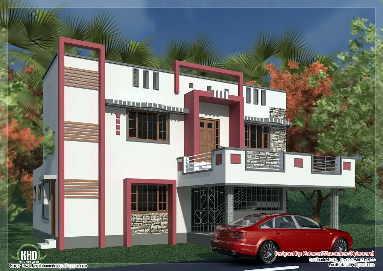 Strange South Indian Model Minimalist 1050 Sq Ft House