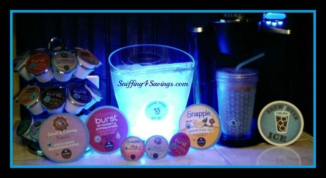 #LoveBrewOverIce, Love my Keurig and Brew Over Ice, especially the Donut Shop Sweet & Creamy Ice Coffee! Snapple Teas, & Vitamin Burst Fruit Brews, something for everyone!