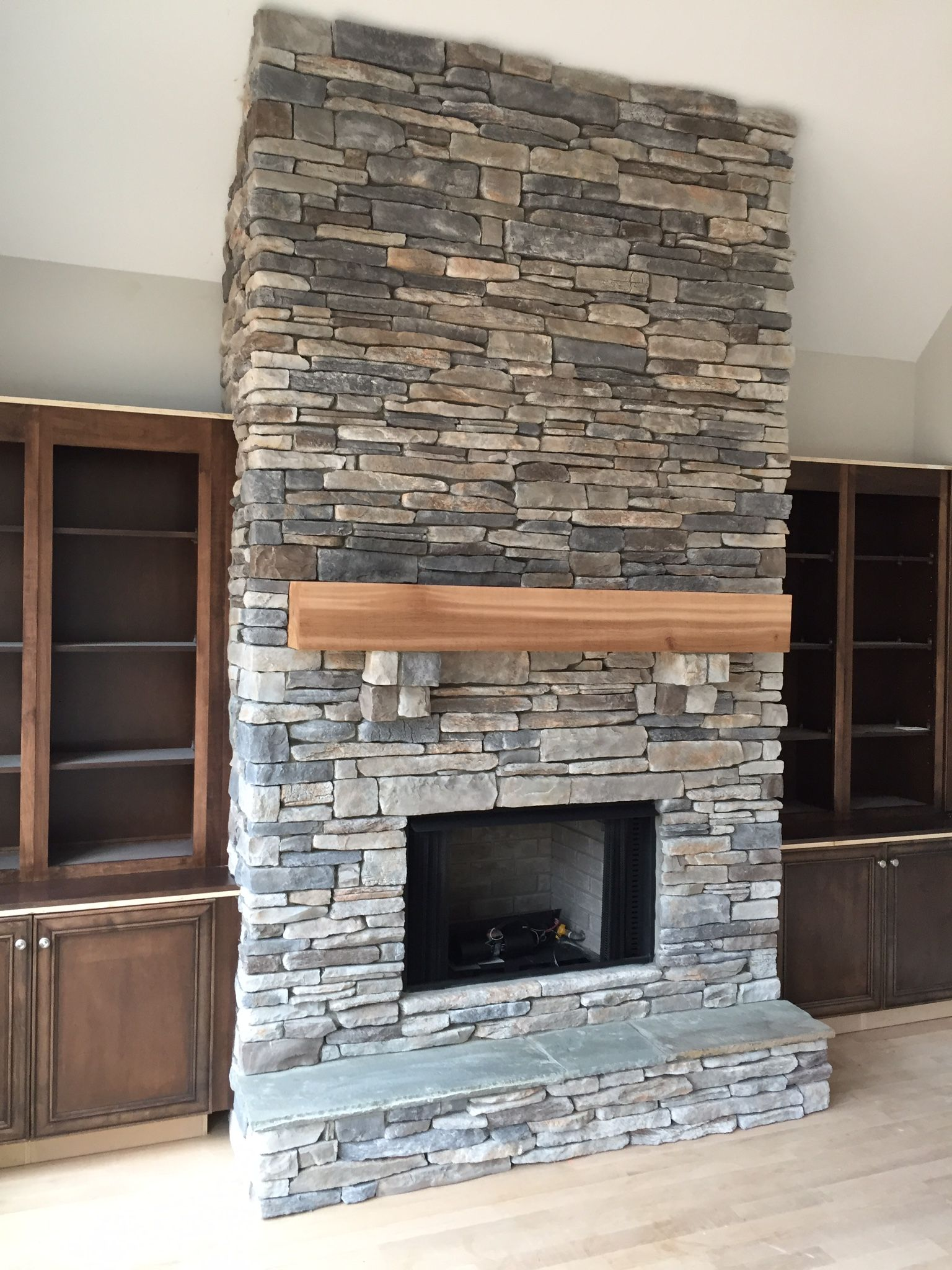 Installing Cultured Stone Fireplace Time For A Fireplace That Rocks Custom Design And Install