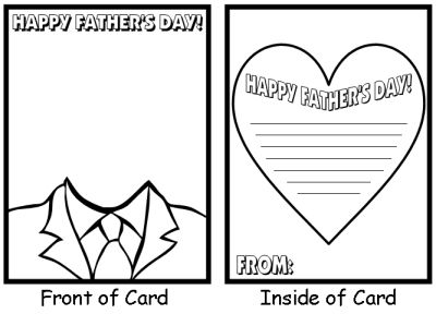 Father S Day Cards For Preschoolers To Make Father S Day Fathers