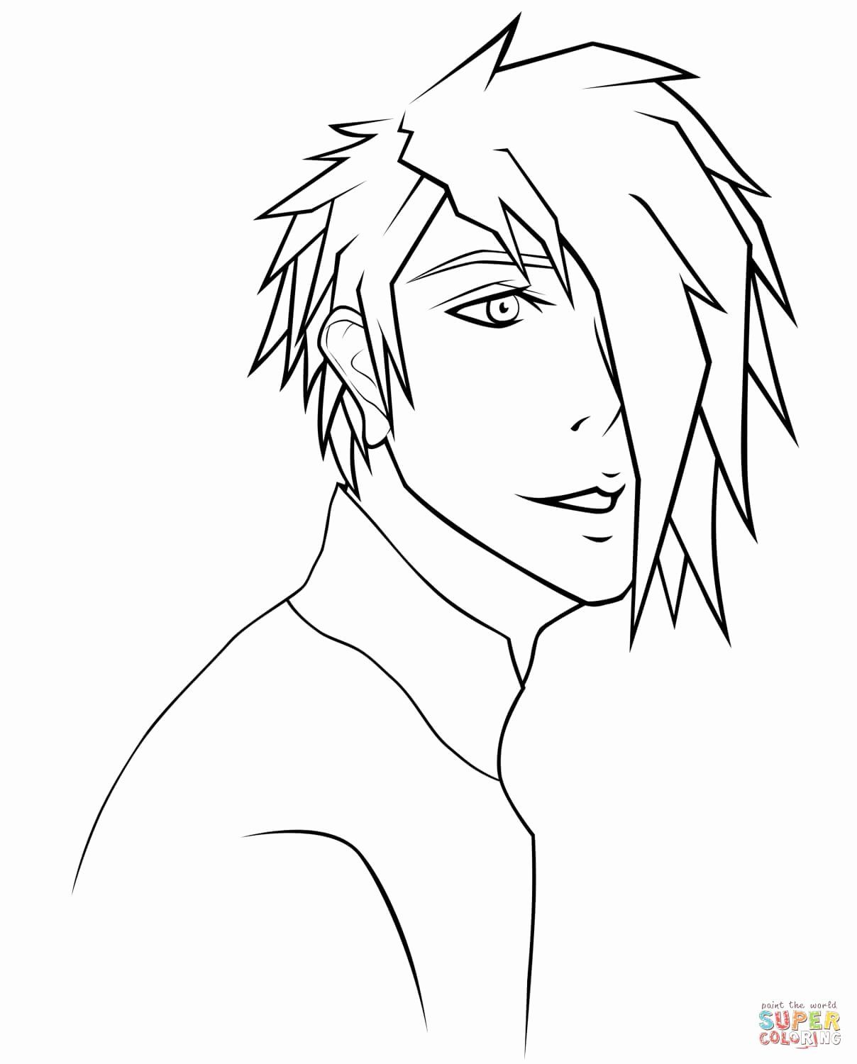 Coloring Pages Printable For Boys New Rj Anime Boy Portrait By Sugarcoated Lipops Coloring Page Coloring Pages For Boys Anime Guys Shirtless Anime Drawings Boy
