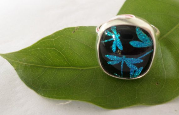 Hey, I found this really awesome Etsy listing at https://www.etsy.com/listing/237525809/sterling-silver-dichroic-glass-ring-100