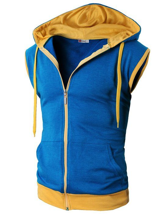 H2H Mens Pokemon ash Sleeveless Hoodie Zip-up Vest BLUE US S Asia M (JNSK31) fd772a5142a5
