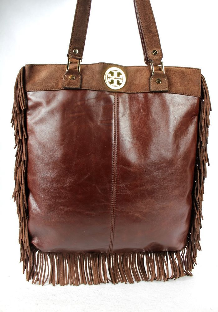 381c66a09ad2 TORY BURCH FRINGE BROWN LEATHER SUEDE MESSENGER SHOULDER BAG TOTE BEST  OFFER  ToryBurch  TotesShoppers