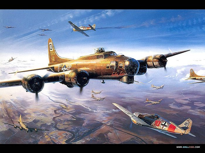 War In The Air Air Combat Painting Wallpaper 33 Air Combat Art1 Aircraft Painting Combat Art Airplane Art