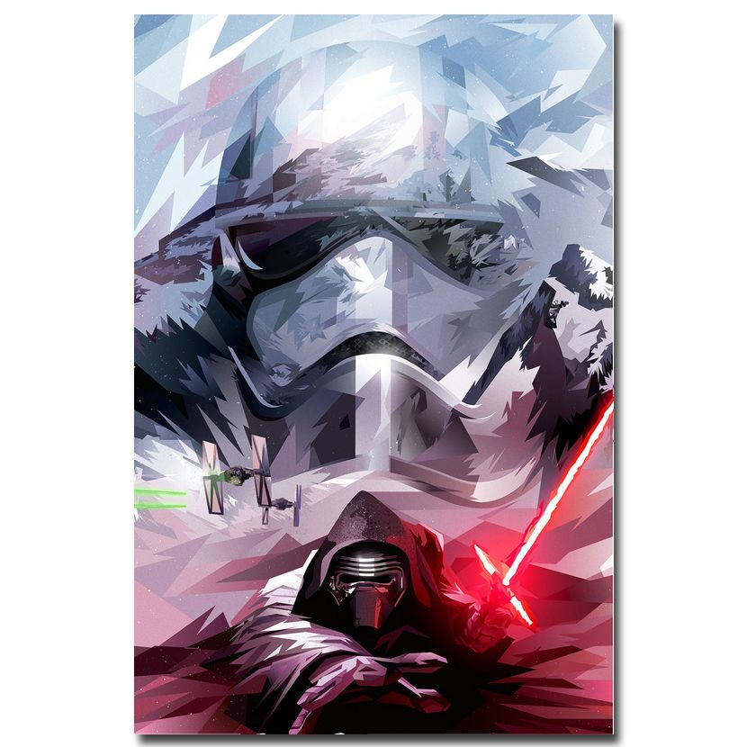 Star Wars Galaxy All Characters Ships Art Silk Poster 12x18 24x36