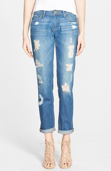 Paige Denim 'Jimmy Jimmy' Boyfriend Skinny Jeans (Delilah Destructed) available at #Nordstrom