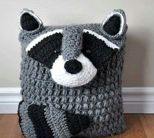 Mapache | Crochet | Pinterest | Kissenbezüge, Kissen und Häkeln