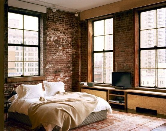 Impressive Bedrooms With Brick Walls Rooms Pinterest - 65 impressive bedrooms with brick walls
