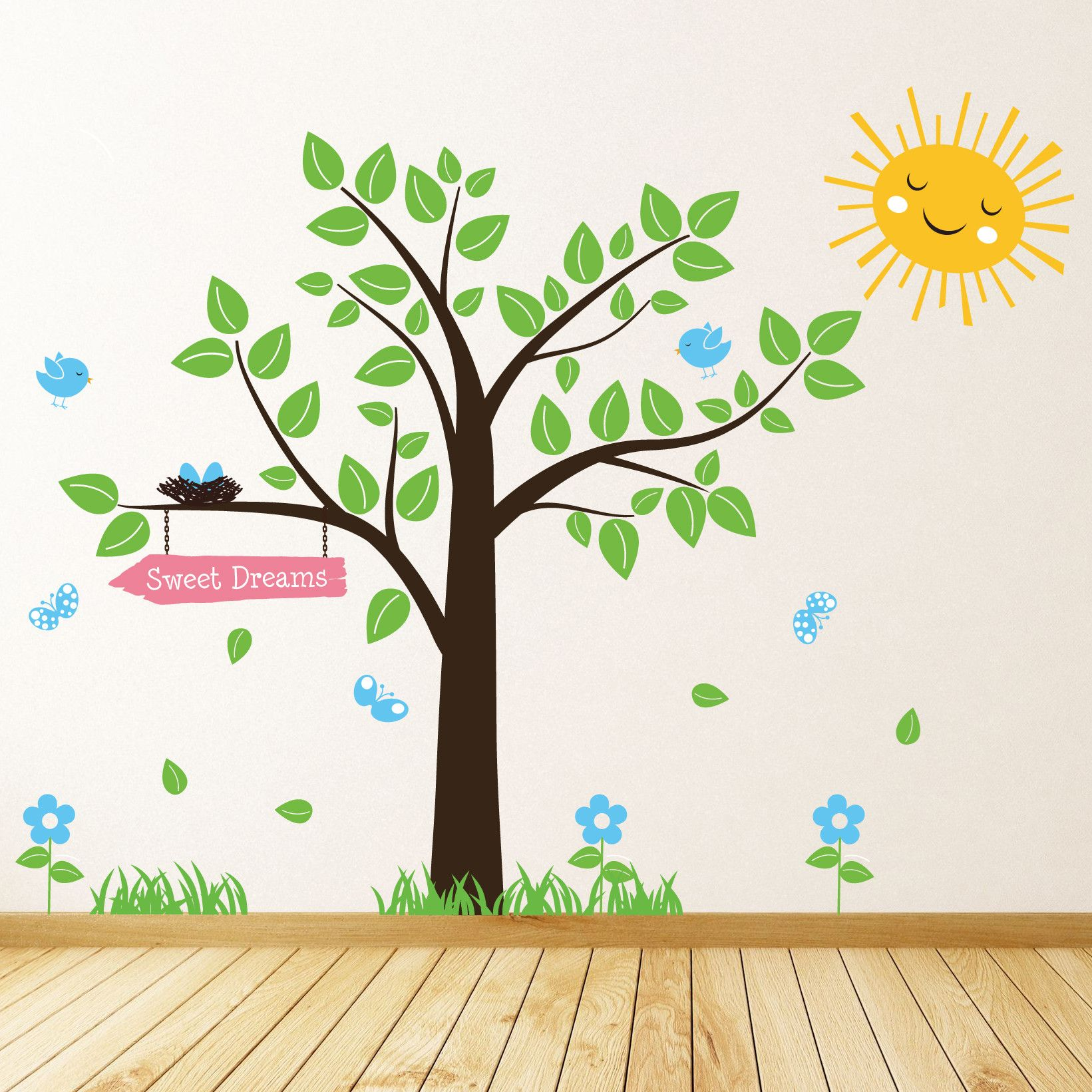 Tree Wall Sticker...cute Idea For A Nursery Room Painting!