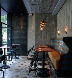 Wall Bench Seating Pub Style Cafe
