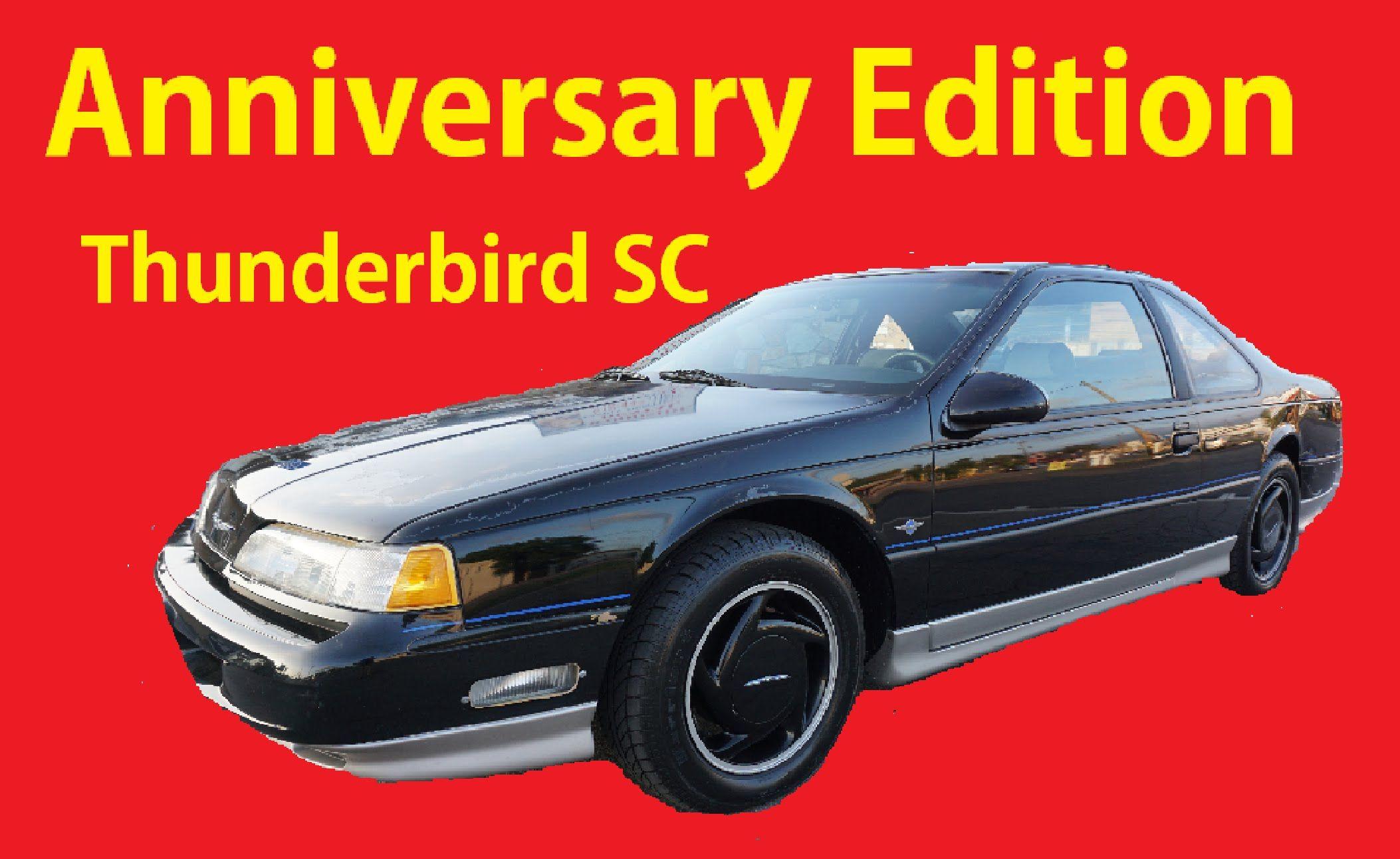 Anniversary Edition Ford Thunderbird SC Supercharged T-Bird Manual Coupe Ford  Thunderbird, Manual,