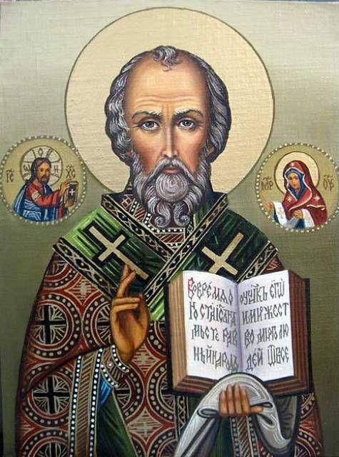 Св.Николай чудотворец (холст,масло) - художник Ядвига Сенько