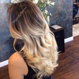 Dark Brown Blonde Ombre Hair And Wheat Fade By