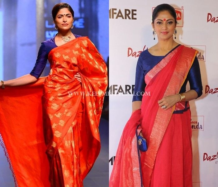 25081fc46a1583 These 7 Blouse Designs Will Glam-up Your Red Saree Style