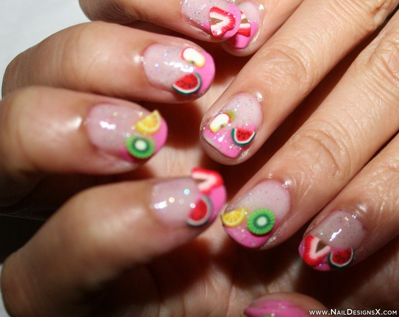 cute fruit nail design » Nail Designs & Nail Art | Fruit Nail ...
