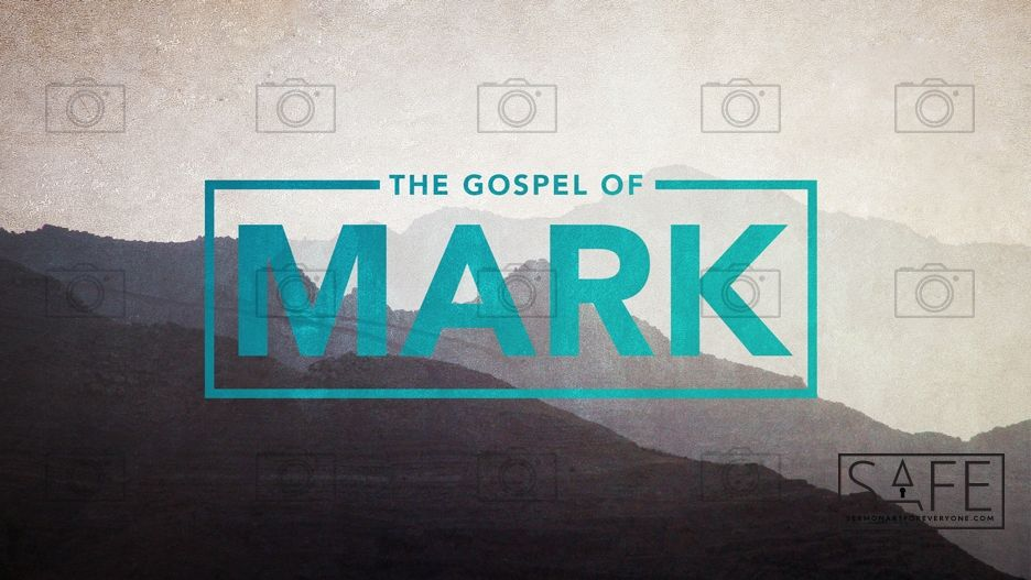 Gospel of Mark | Sermon Artwork | Church graphic design, Gospel of