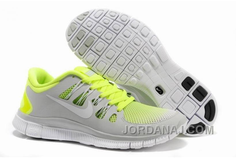 promo code 1ccde a4bff Nike Wmns Free 5.0 Addetramento Scarpe Per Maschi Grigio Verde Fluorescente  Unisex, Running Shoes For