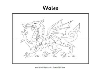St David S Day Colouring Pages Flag Coloring Pages Dragon Coloring Page Welsh Flag