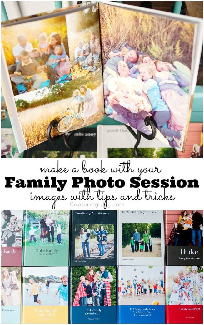 Tips and ideas to Make an art book with your Family Photo Session images taken by your photographer, with Blurb Books