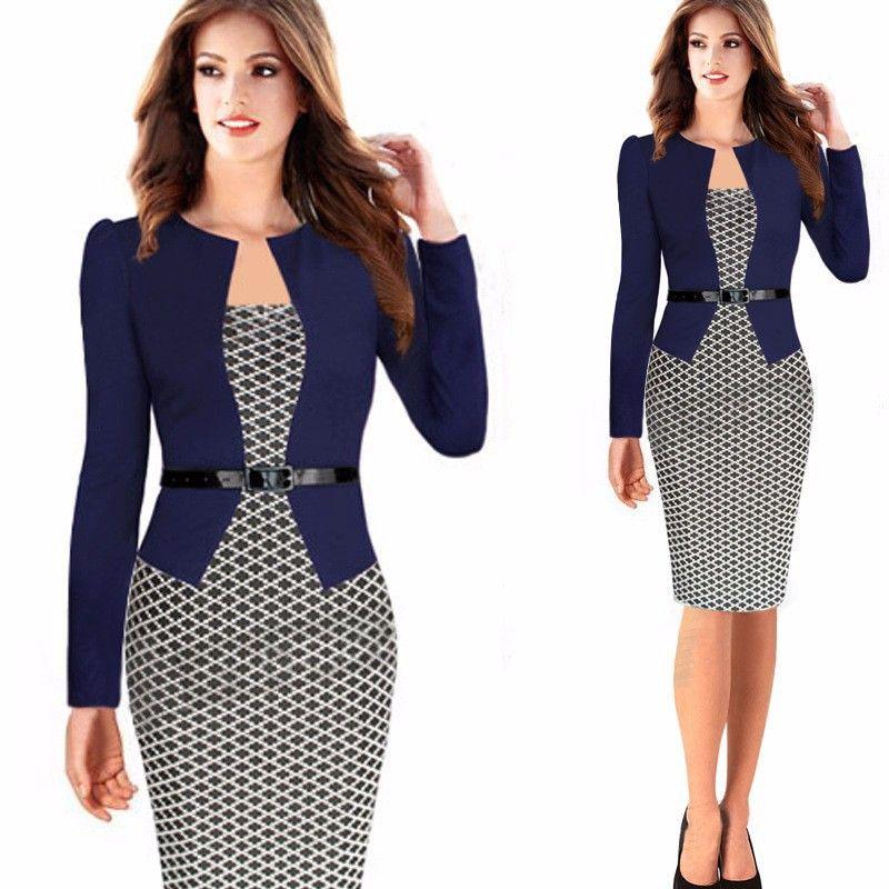 Vestidos elegantes para trabajar en oficina