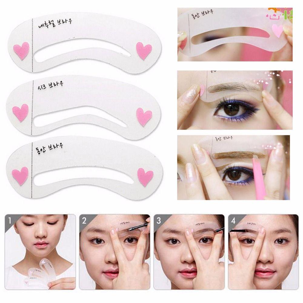 Eyebrow Stencils Kit Grooming Card Eyebrow Makeup Tools - chellymova | Eyebrow makeup tools
