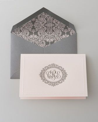 Hand-Engraved Personalized Stationery at Horchow.