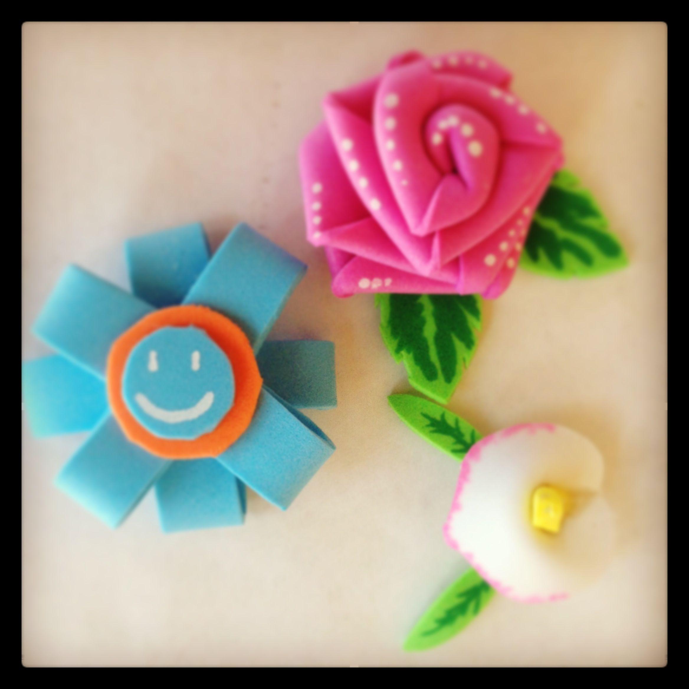 Flores con goma eva o foamy flores foamy pinterest - Flores con goma eva ...
