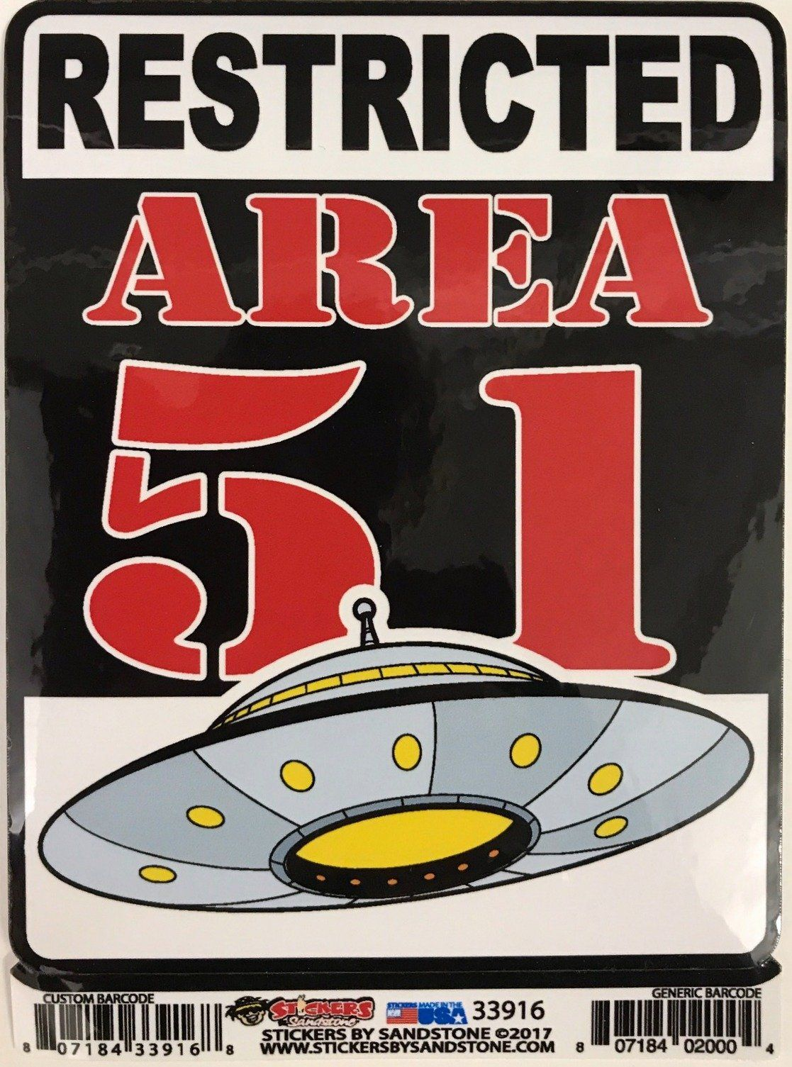 Sticker restricted area 51