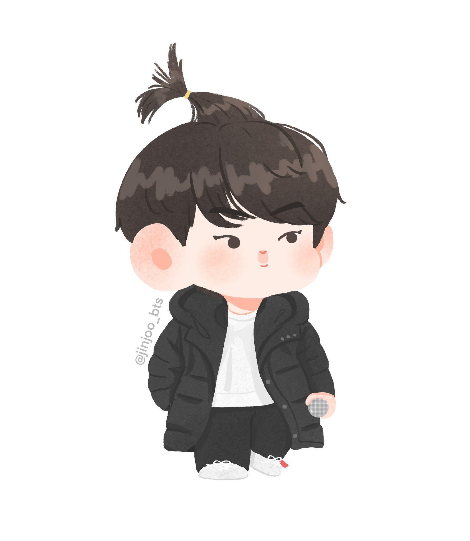 Bts jin cartoon wallpaper