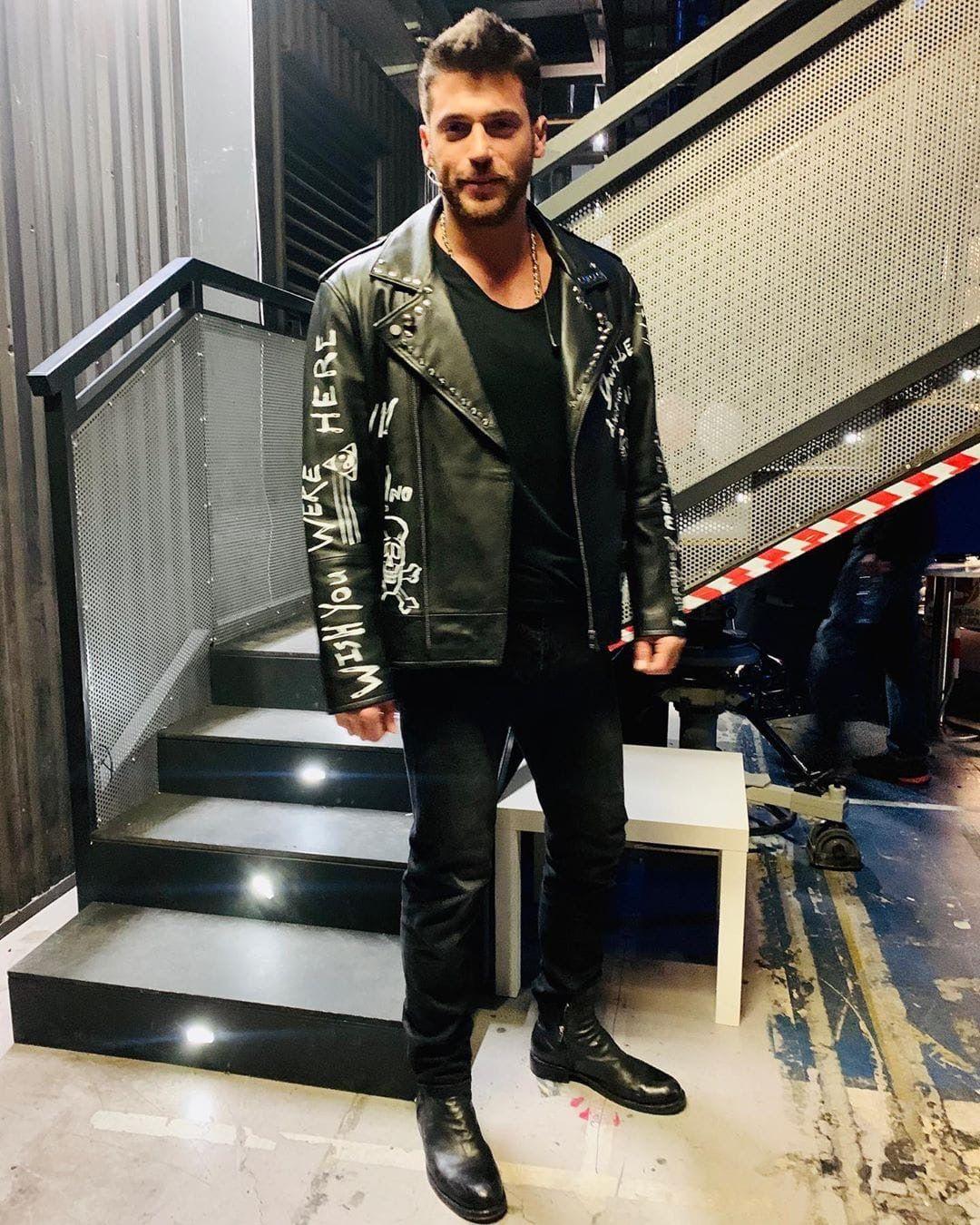 Can Yaman Canning Turkish Men Leather Jacket Men [ 1350 x 1080 Pixel ]
