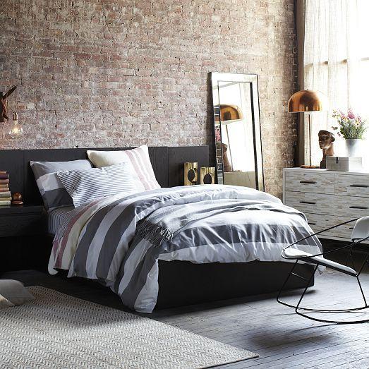 Rocking Bed Frame storage bed frame - chocolate | west elm | apartment | pinterest