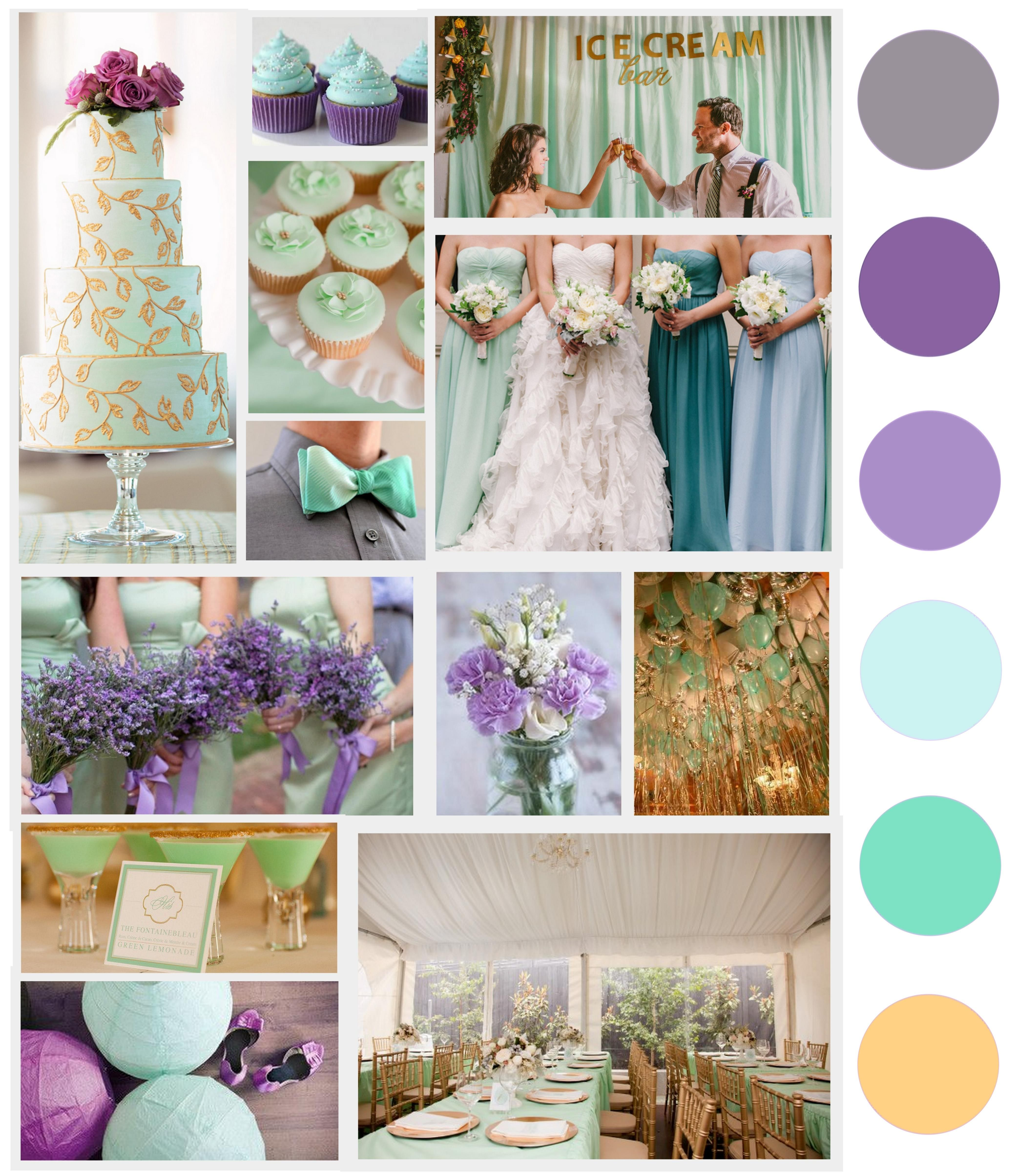 Mint, Lilac, and Gold Wedding Palette -- My edit | stereotypical ...