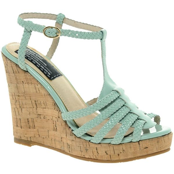 Bertie Gleen Wedge Sandals ($116) ❤ liked on Polyvore