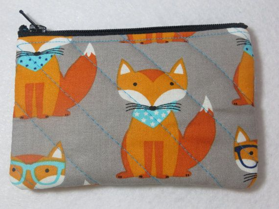 Fox change bag foxes quilted bag change bag change by GeekyGirlM