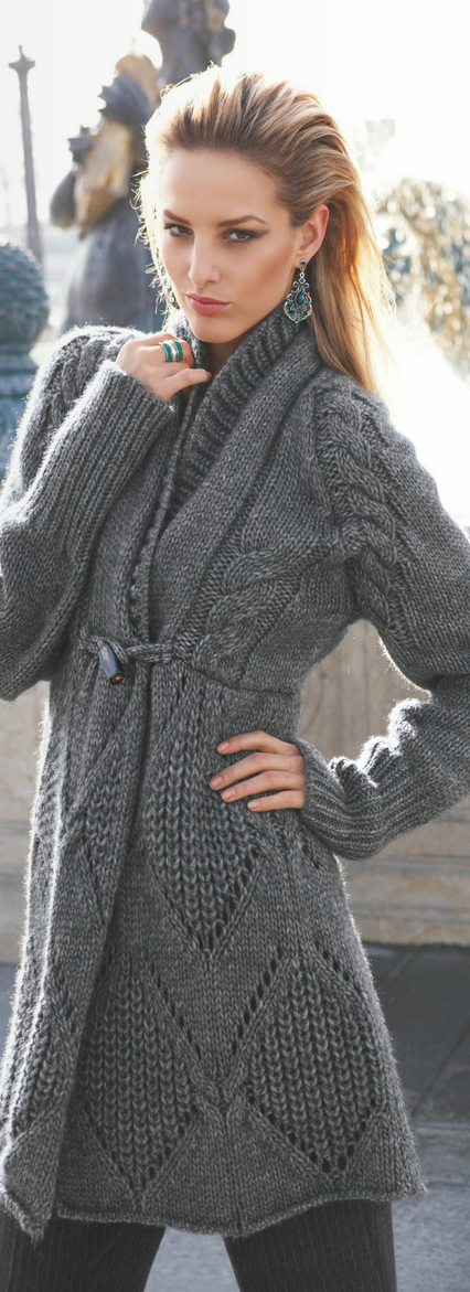 Chic Grey Knit Sweater Inspiration But This Is Lovely And