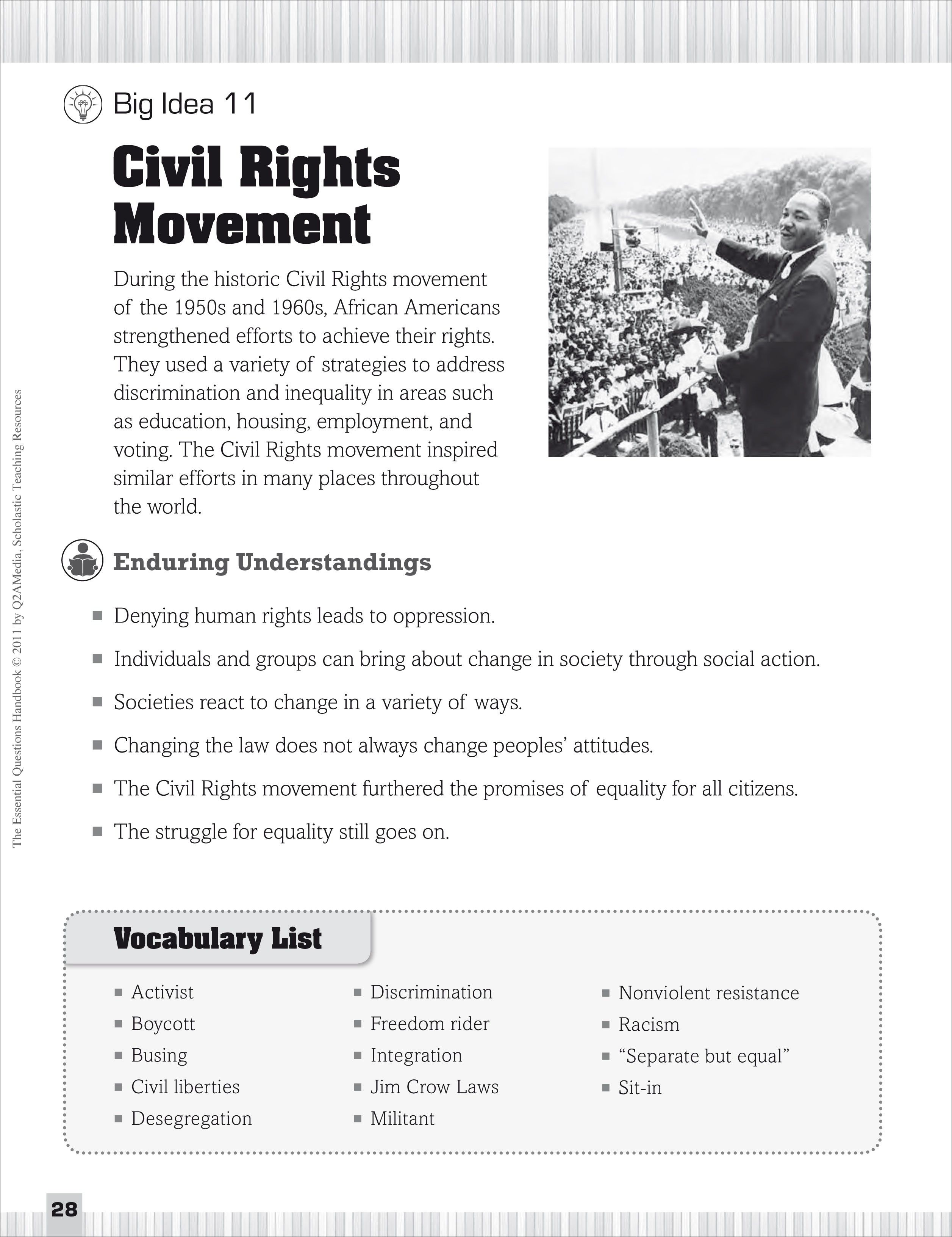 small resolution of Civil Rights Movement: Essential Questions for Social Studies