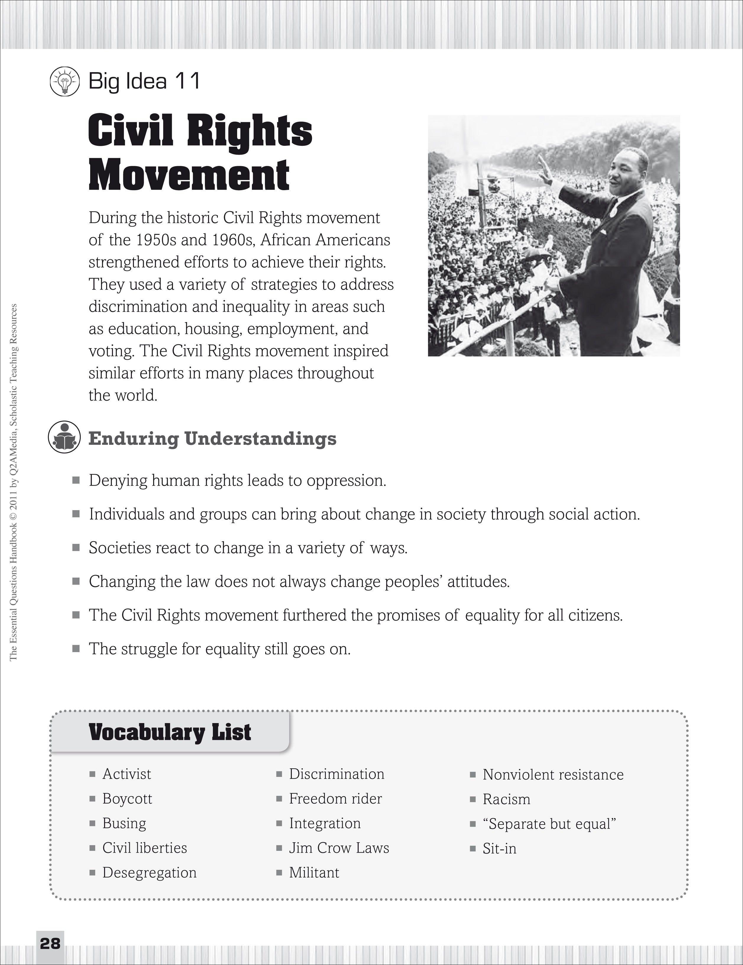 Civil Rights Movement: Essential Questions for Social Studies [ 3263 x 2513 Pixel ]