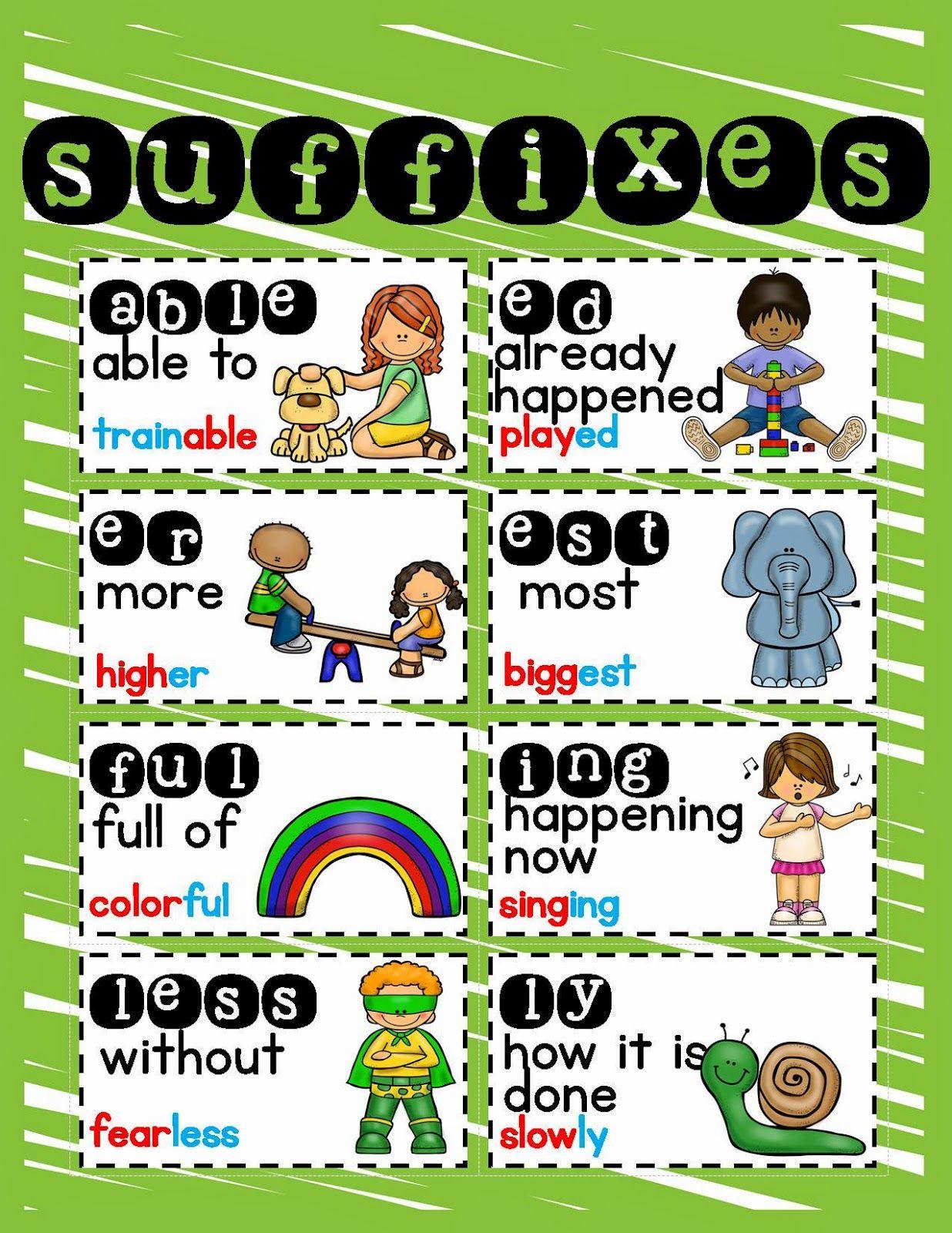 Prefix And Suffix Freebie Lory S Page