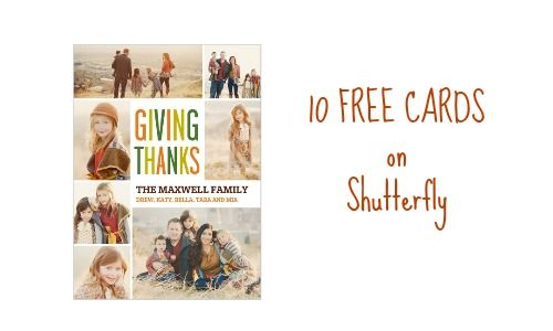 Shutterfly Deal 10 FREE Cards For New Customers
