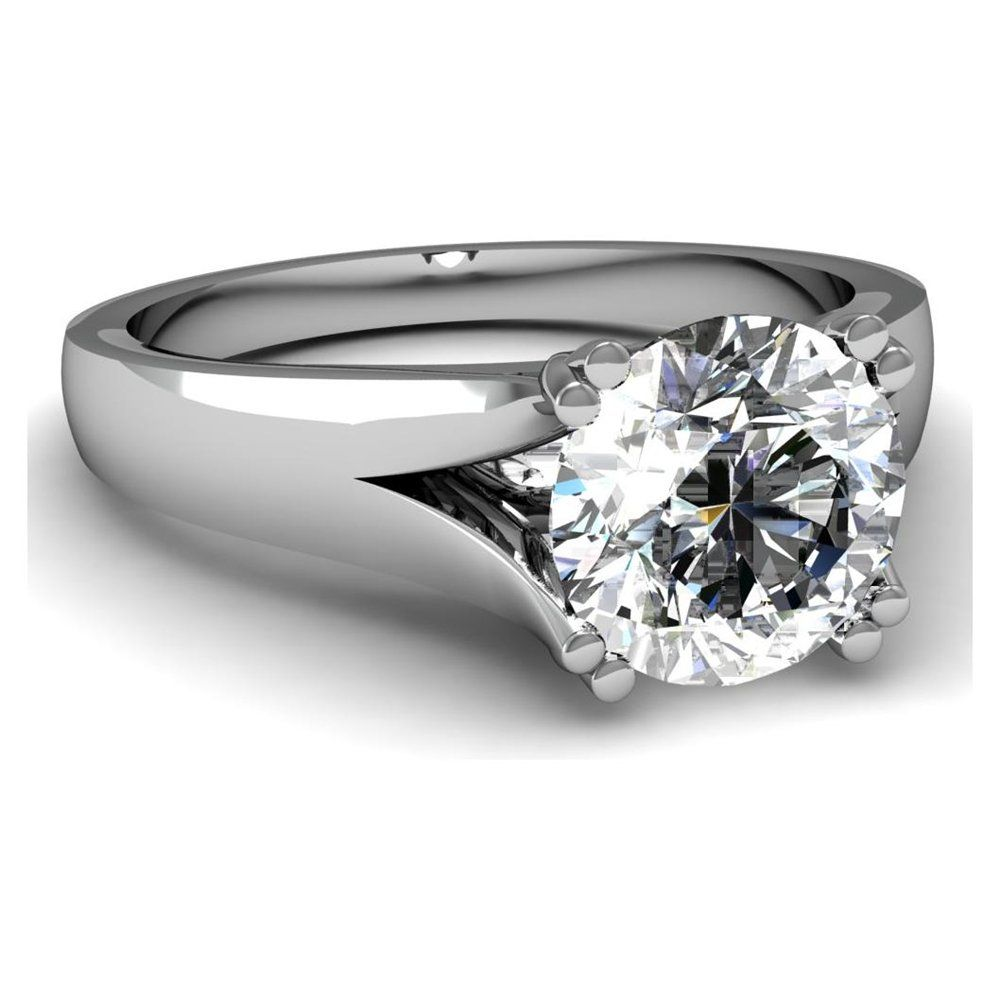 Women's Diamond Solitaire Wide Wedding Band: Women Wedding Rings Wide Band Solitaire At Reisefeber.org