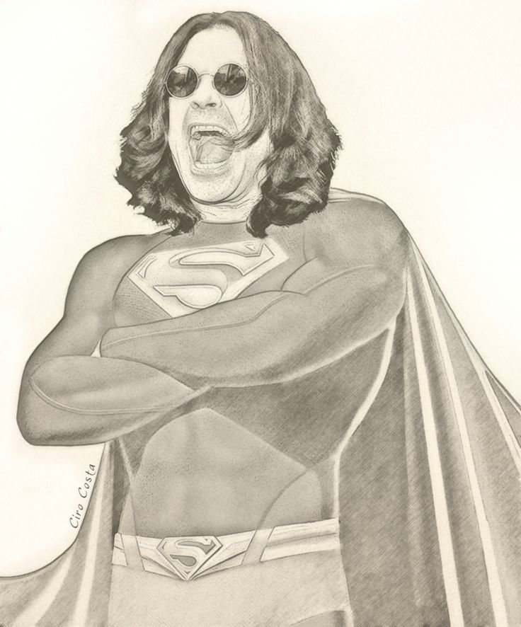 "Super Rocker: Seu ídolo do rock vestido de super-herói ! ""Super Ozzy"" \m/ ""Batman trema de medo ou perderá as asas!!!!""  ‪#‎89ILUSTRA‬ / A Rádio Rock ""SUPER ROCKER"", ‪#‎Ozzy‬, ‪#‎Superman‬"