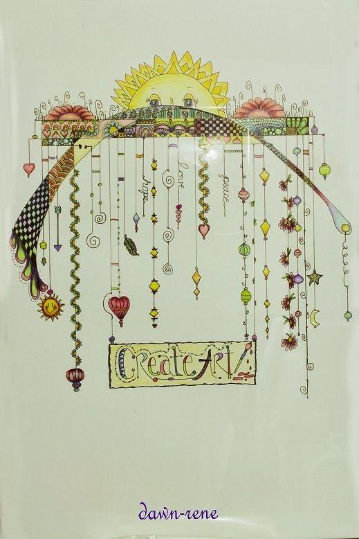 Club de art journal de qu bec mus e virtuel le zentangle et des variantes loisirs cr atifs - Coloriage virtuel ...