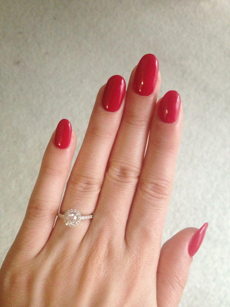 Attractive Red Nails Shellac Motif - Nail Art Ideas - morihati.com