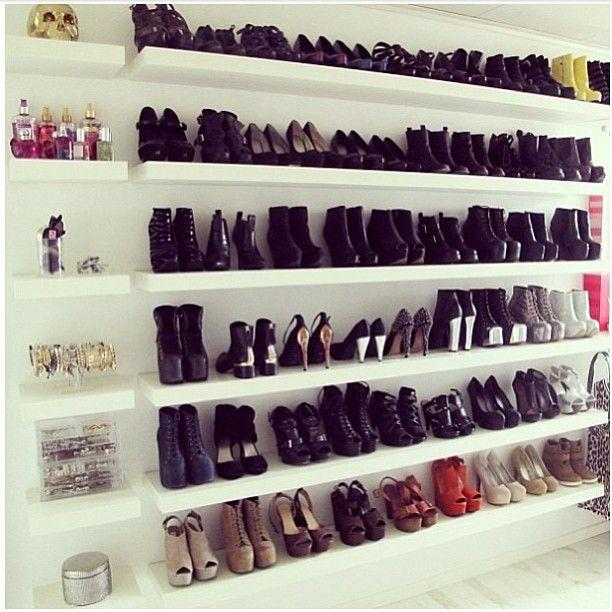 26++ Floating shelves shoe storage trends