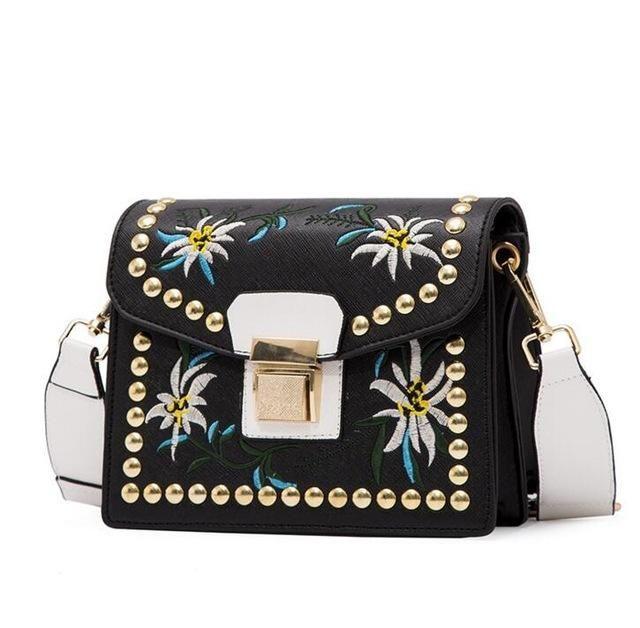 58a07c34d3 Fashion Women Leather Messenger Bag Flower Handbag Ladies Small Crossbody  Bags Women Famous Brands Designers Shoulder Bag LB151