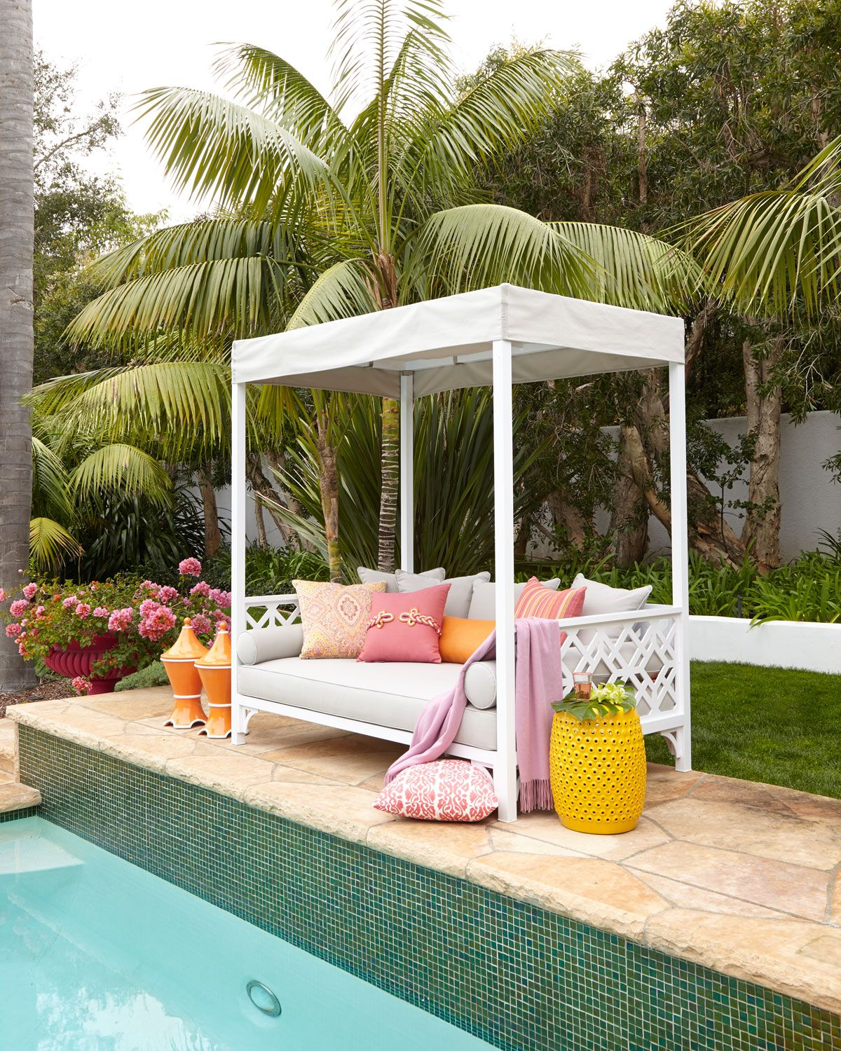 Chinois Daybed Outdoor Daybed Daybed Canopy Backyard 640 x 480